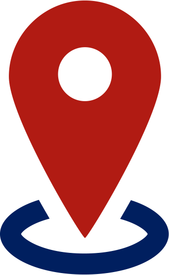 A red location marker
