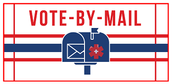 Vote By Mail image of a mailbox
